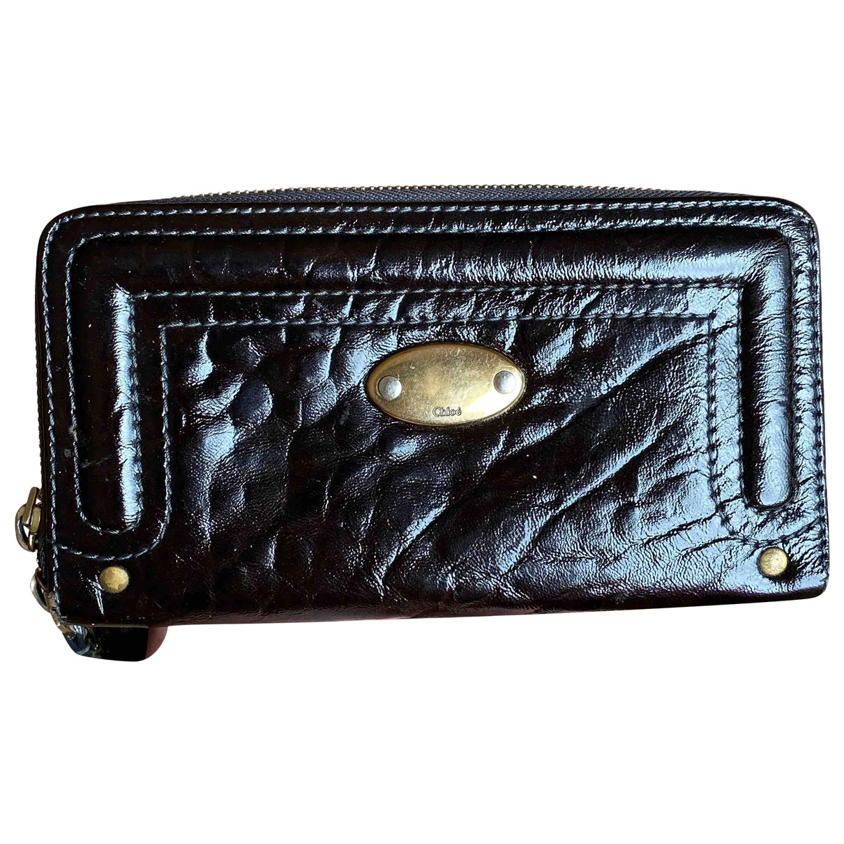 Chloé \N Brown Patent leather wallet for Women \N