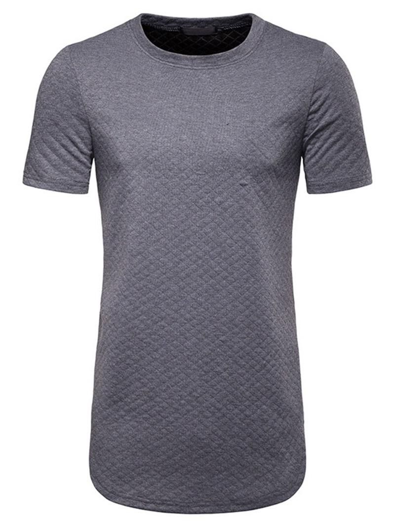 Ericdress Round Neck Plain Casual Mens Loose T-shirt