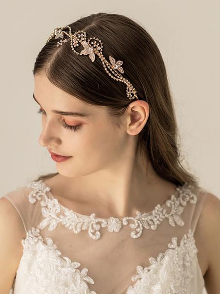 Milanoo Headpieces Wedding Metal Hair Accessories For Bride