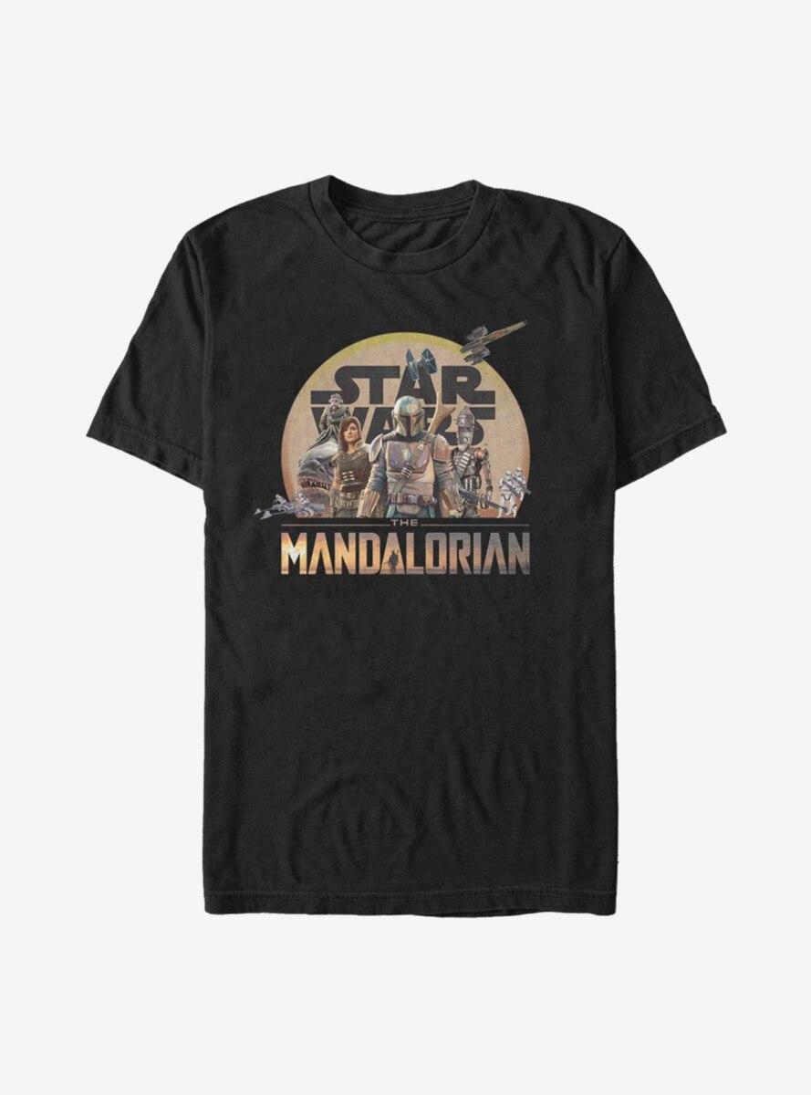 Star Wars The Mandalorian Character Action Pose T-Shirt