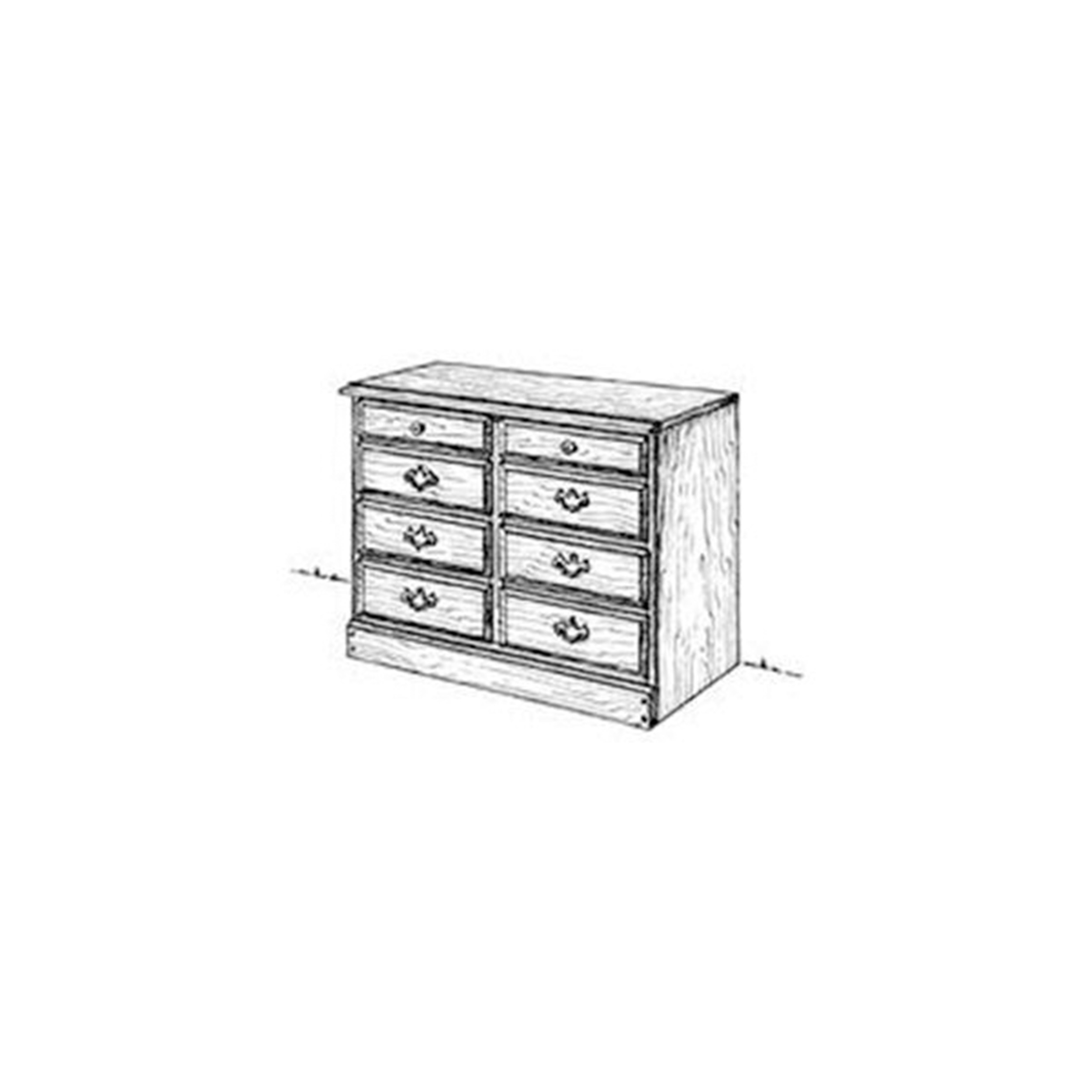 Woodworking Project Paper Plan to Build Chest of Drawers 30