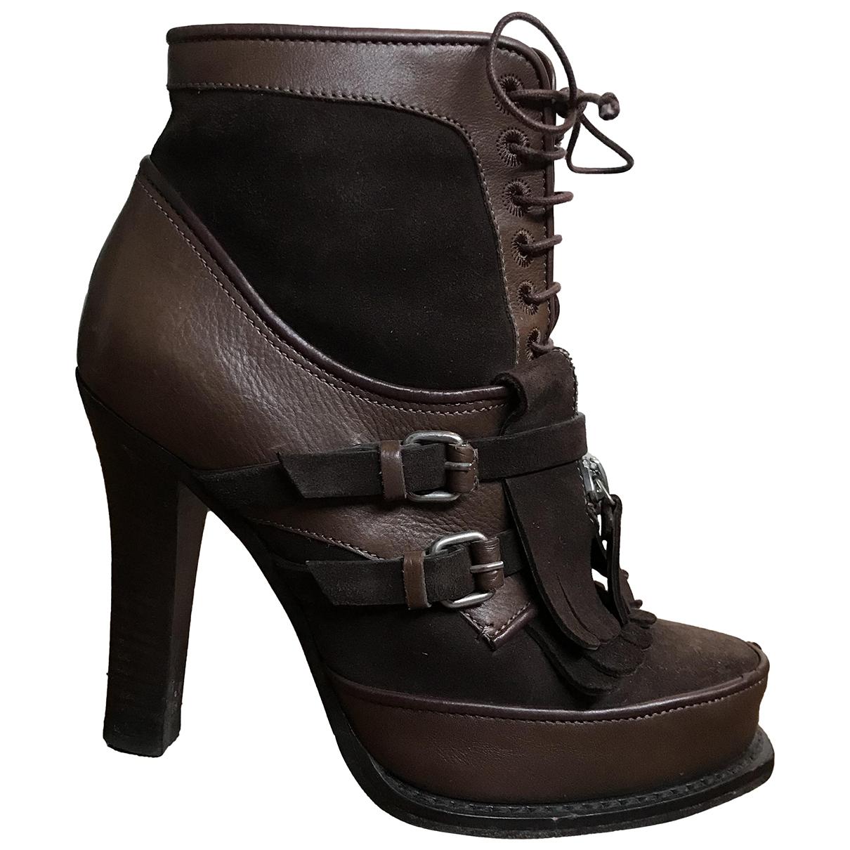 Tabitha Simmons - Boots   pour femme en suede - marron