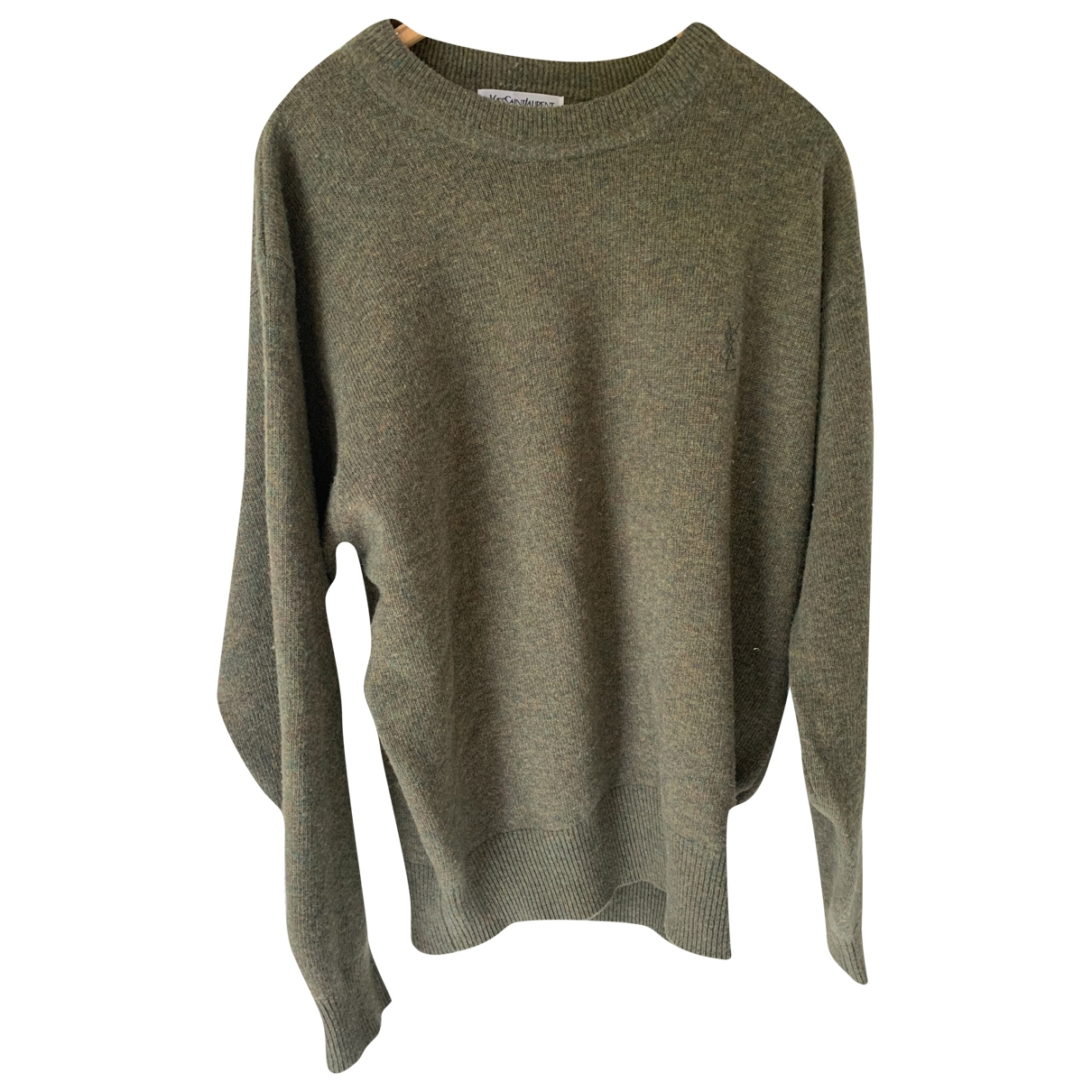 Yves Saint Laurent \N Pullover.Westen.Sweatshirts  in  Khaki Wolle