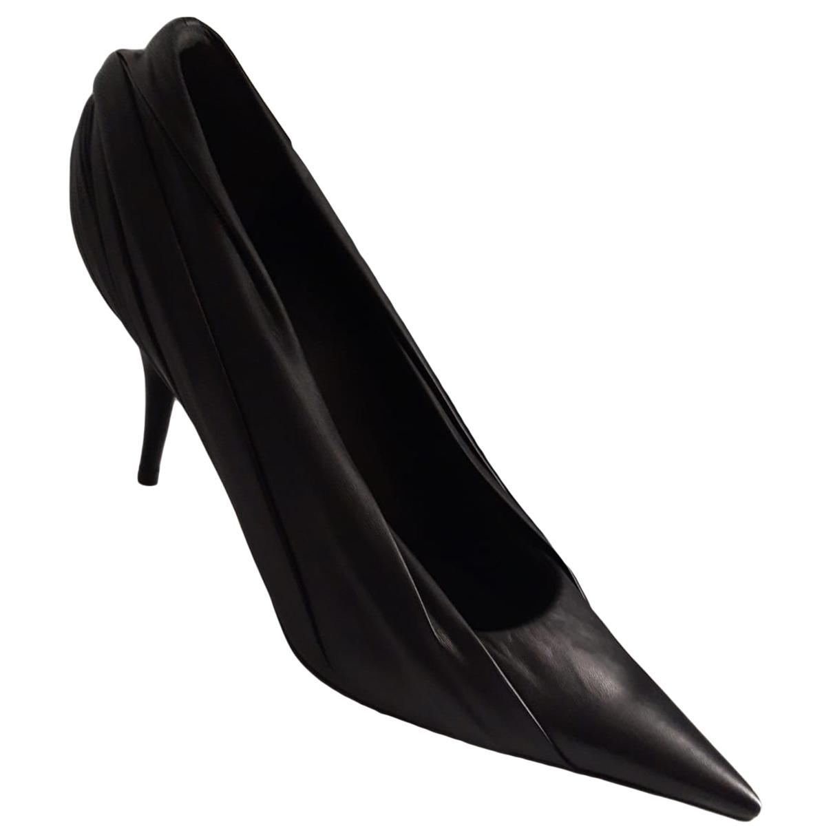 Balenciaga - Escarpins Knife pour femme en cuir - noir