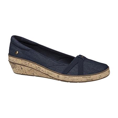 Grasshoppers Womens Gigi Slip-On Shoes, 8 1/2 Medium, Blue