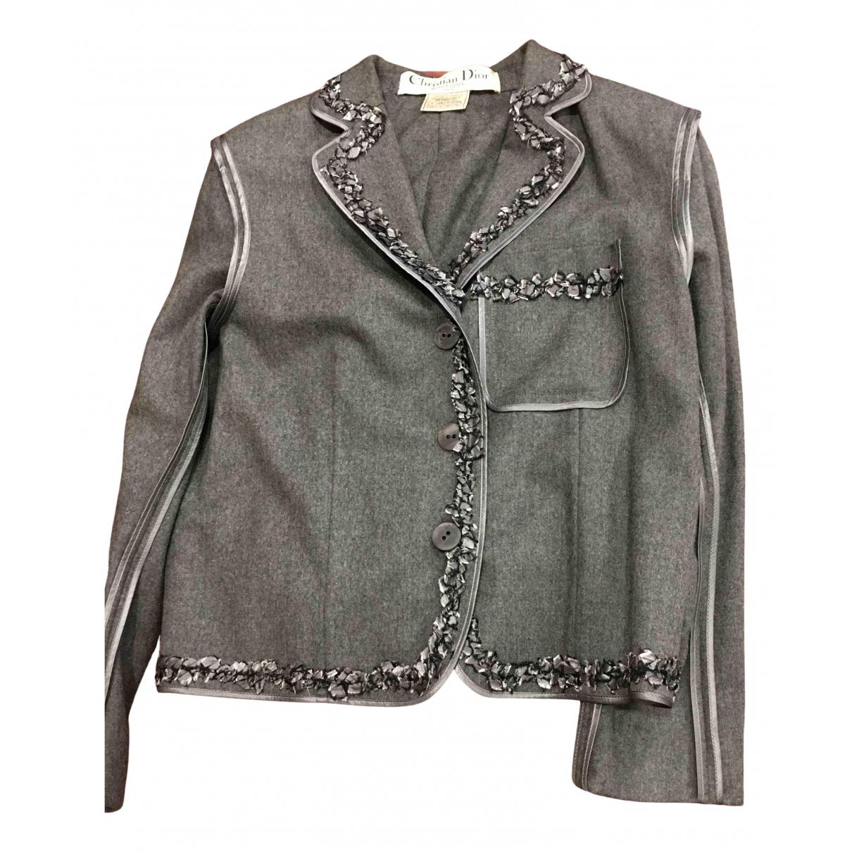 Dior N Grey Wool jacket for Women 42 FR