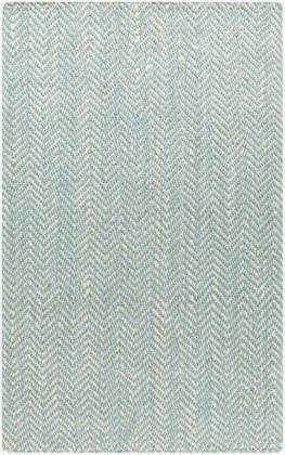 Reeds REED-802 8' x 11' Rectangle Cottage Rug in Aqua