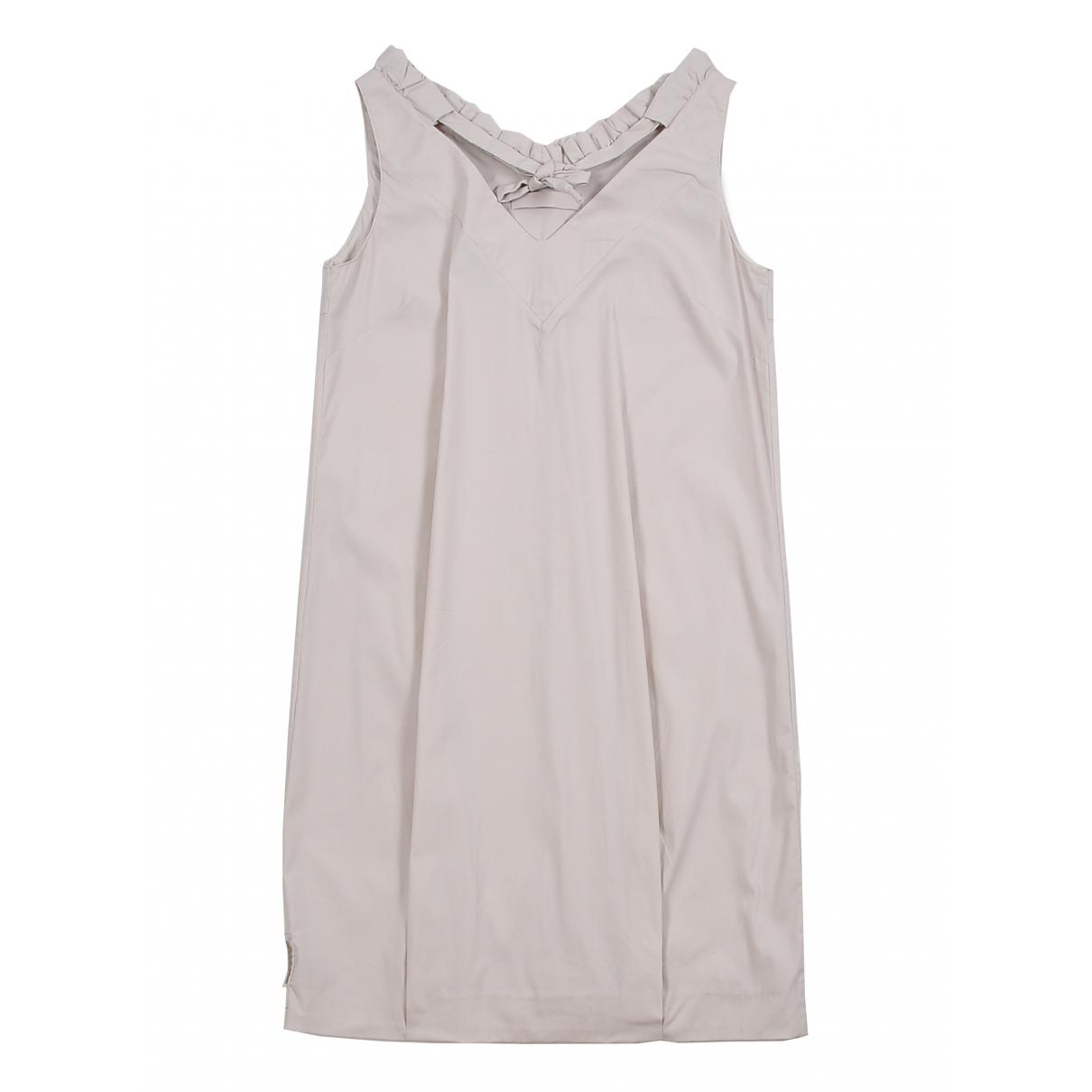 Prada \N Kleid in  Beige Baumwolle