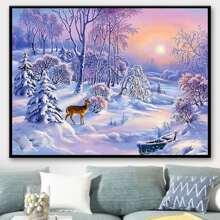 Snow Scene Print DIY Diamond Painting Without Frame