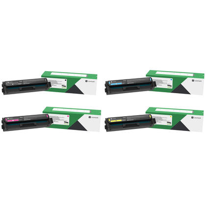 Lexmark 20N1HK0 20N1HC0 20N1HM0 20N1HY0 Original Return Program Toner Cartridge Combo High Yield