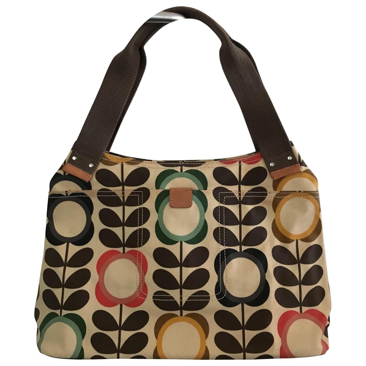 Orla Kiely \N Handtasche in  Braun Leder