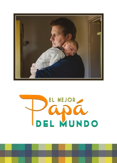 Father's Day 5x7 Folded Cards, Premium Cardstock 120lb, Card & Stationery -Spanish - Preppy Dad