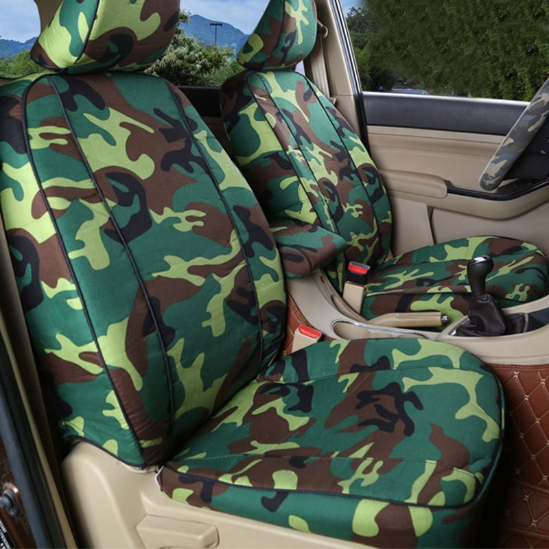 Military Quality Full Coverage Wear-Resistant Scratch-Resistant 5 Seats Outdoor Camouflage Pattern Custom Fit Seat Covers
