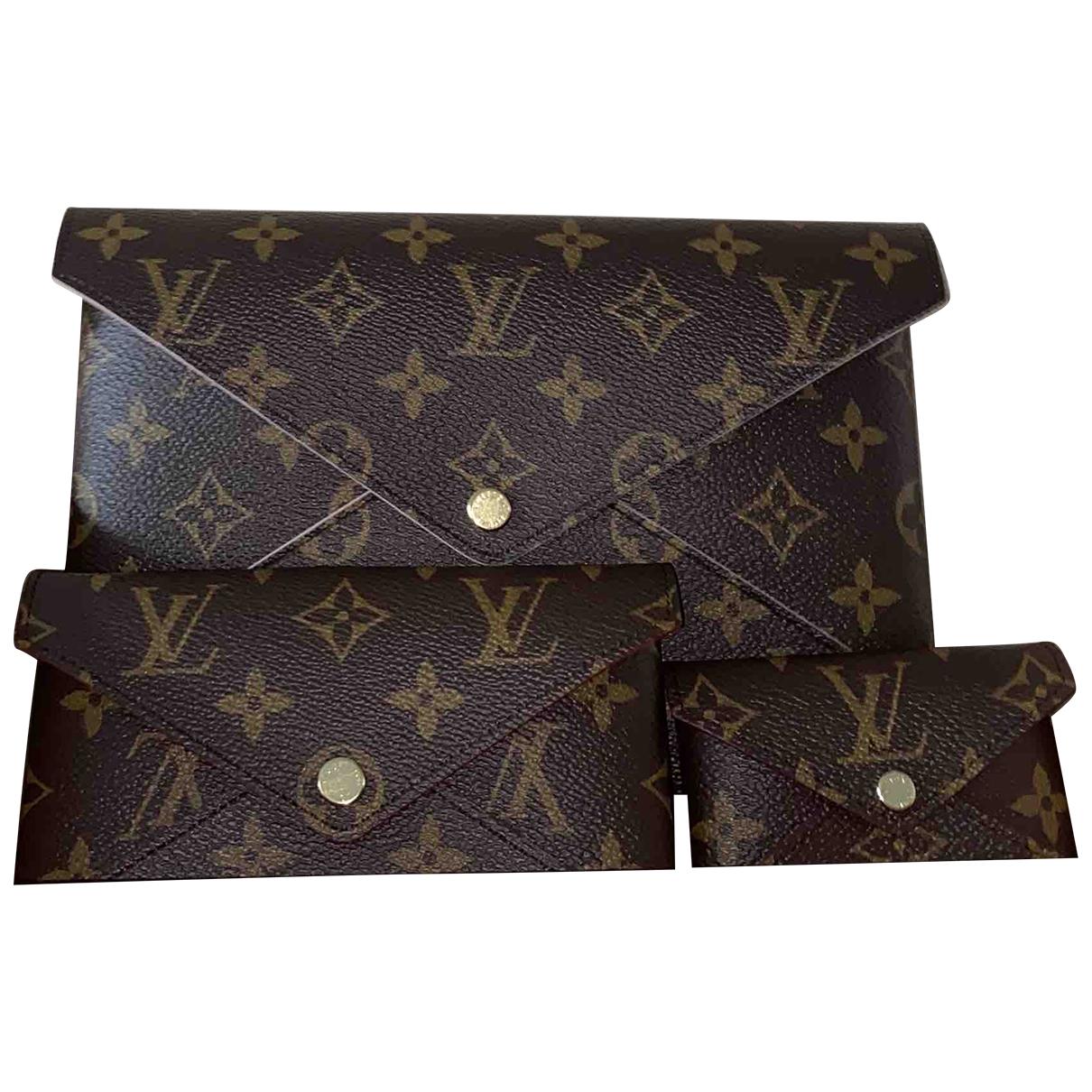 Louis Vuitton - Pochette Kirigami pour femme en toile - marron
