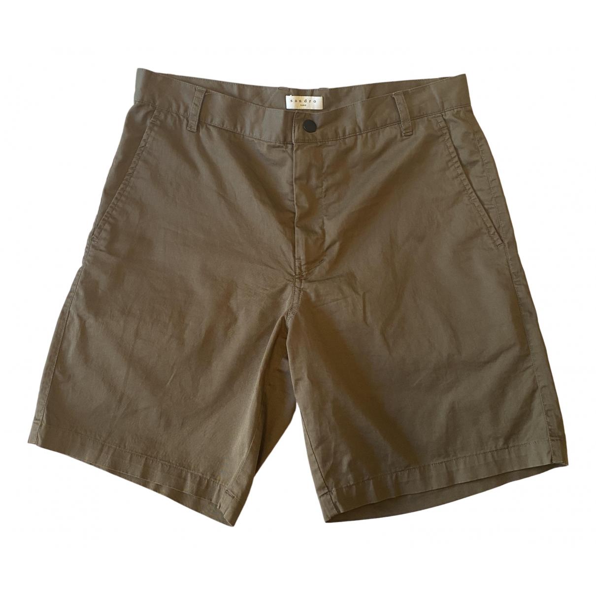 Sandro \N Shorts in  Khaki Baumwolle