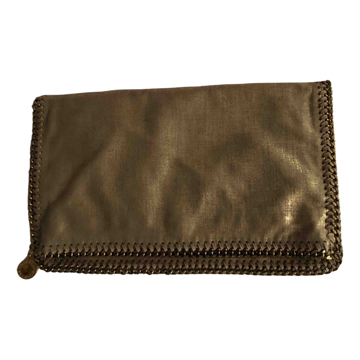 Stella Mccartney Falabella Clutch in  Gold Leinen