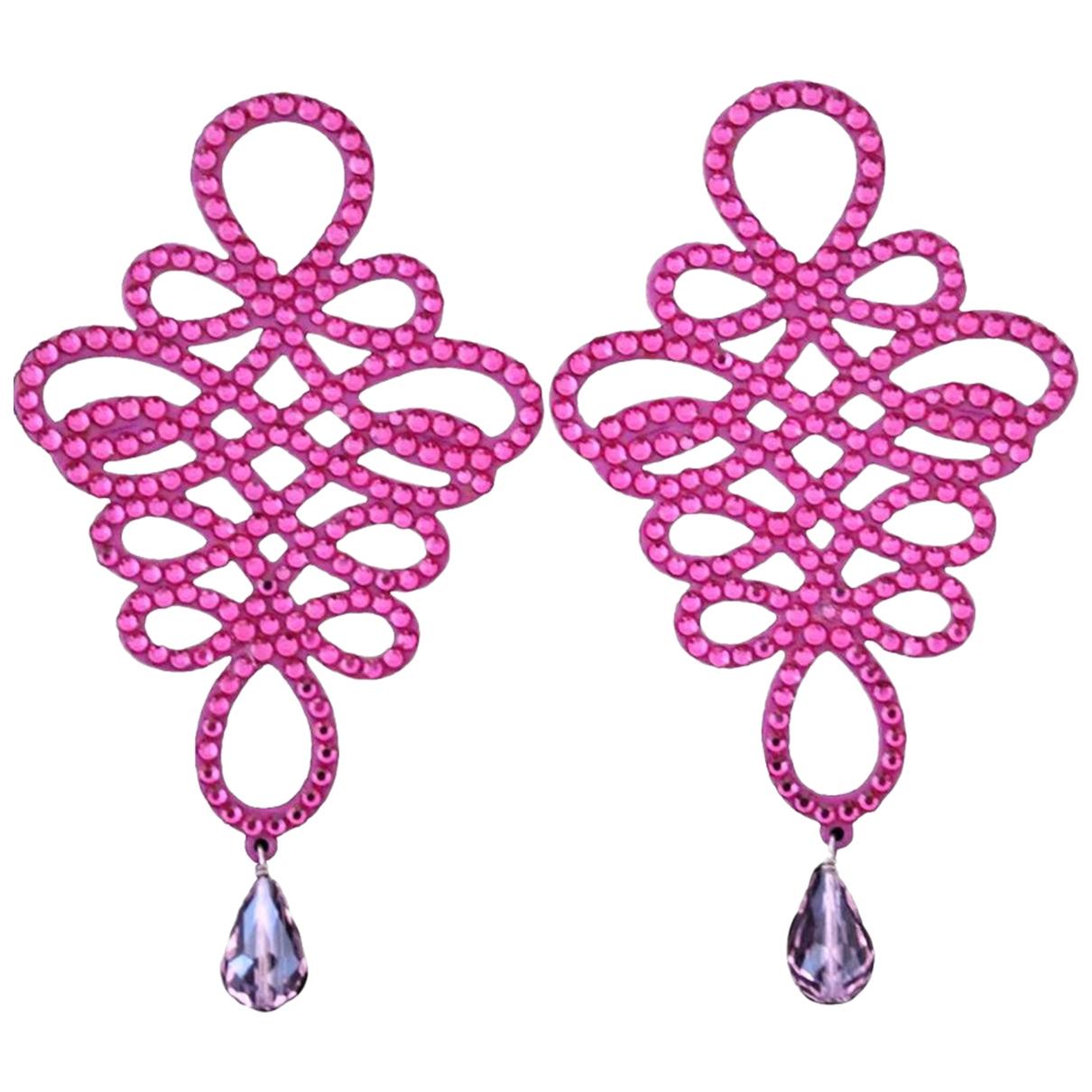 Luxury Fashion - Boucles doreilles   pour femme en metal - rose