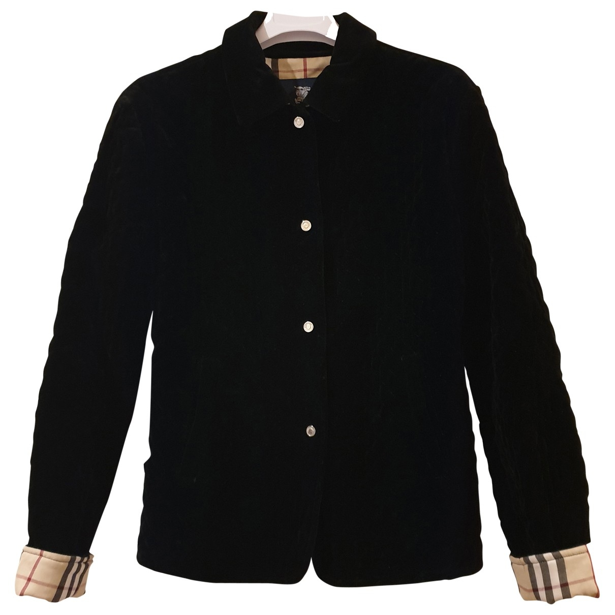 Burberry \N Black Velvet jacket for Women M International