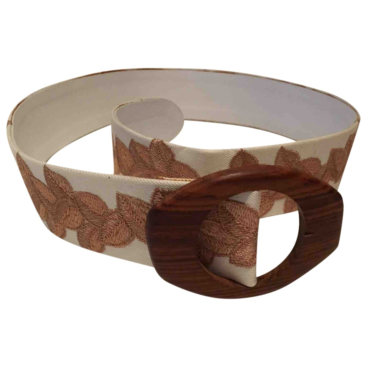Non Signé / Unsigned \N Beige Cloth belt for Women S International