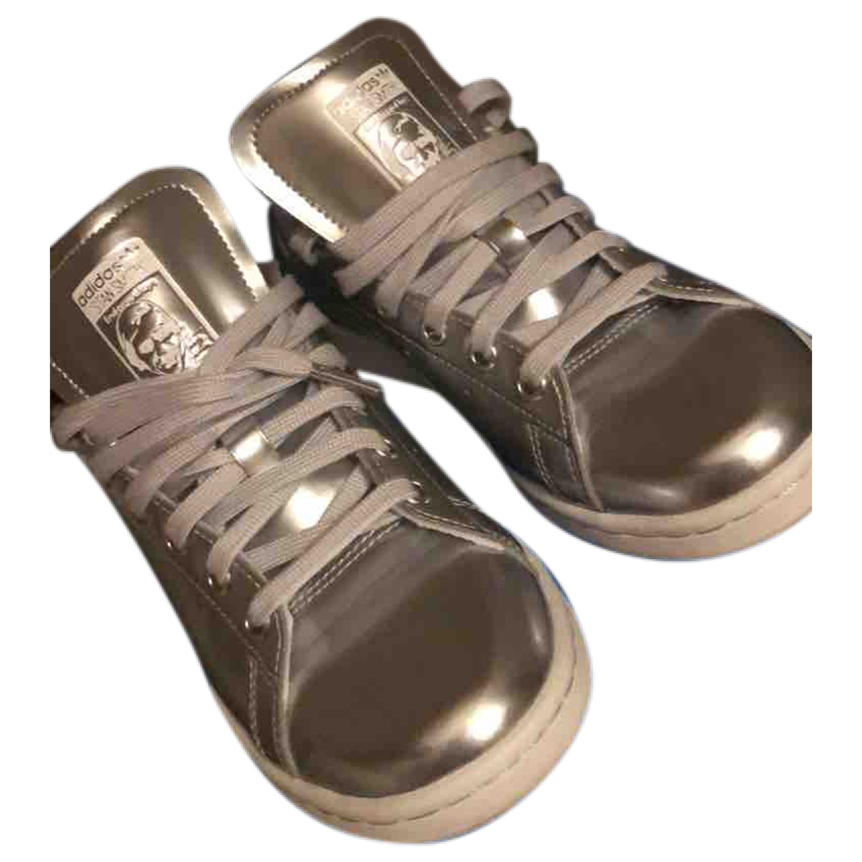 Adidas Stan Smith Silver Leather Trainers for Women 37.5 EU
