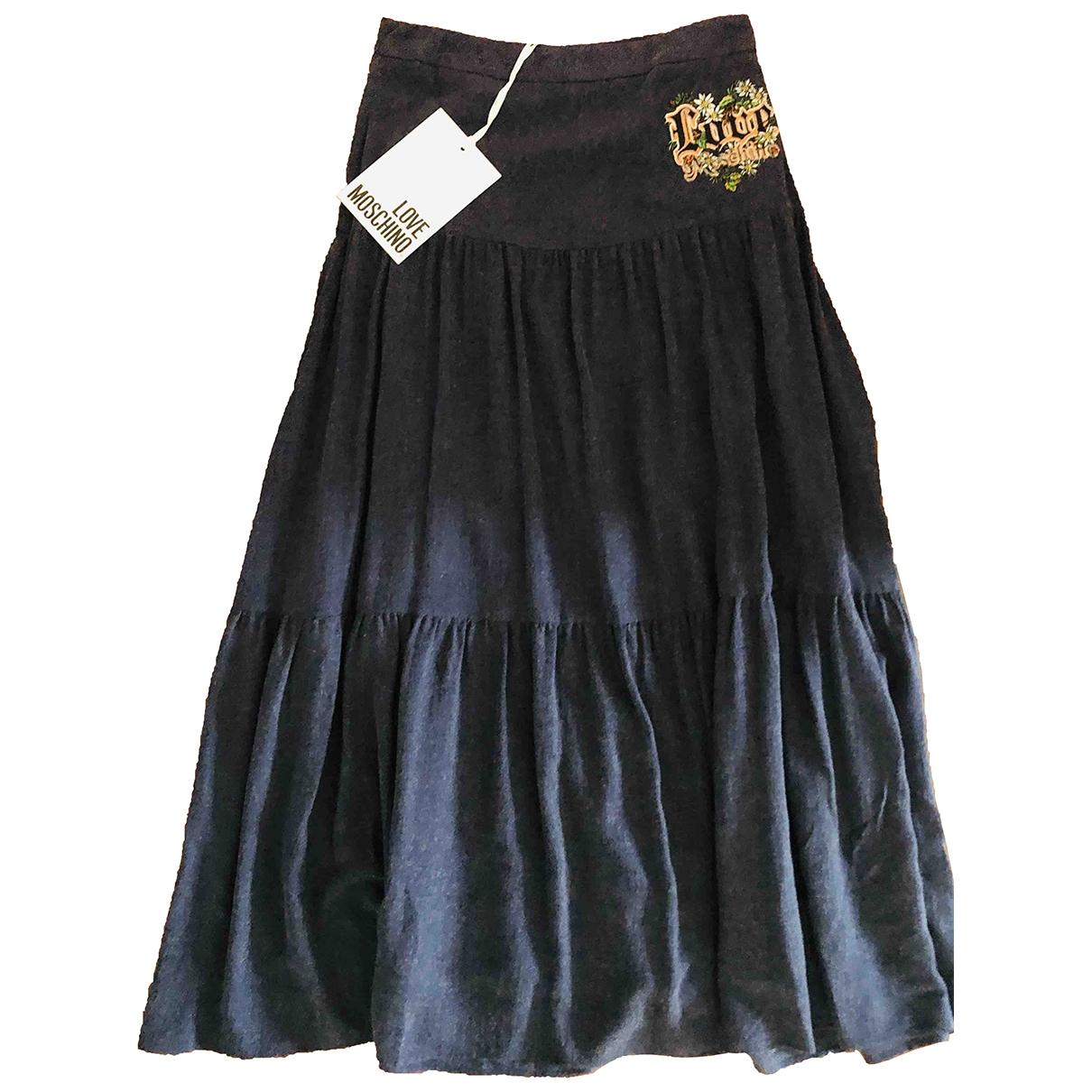 Moschino Love - Jupe   pour femme en coton - bleu