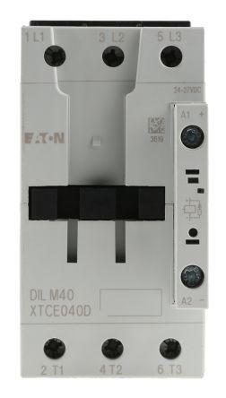 Eaton 3 Pole Contactor - 40 A, 24 V dc Coil, xStart, 3NO, 18.5 kW