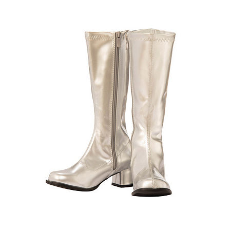 Child Gogo Boot Silver Costume, 4-5 , Silver
