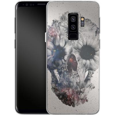 Samsung Galaxy S9 Plus Silikon Handyhuelle - Floral Skull 2 von Ali Gulec