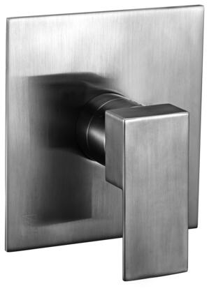 AB6701-BN Modern Square Pressure Balanced Shower Mixer with Brass  Square Shaped Lever Handle  Sleek Modern Design  User-Friendly Installation and