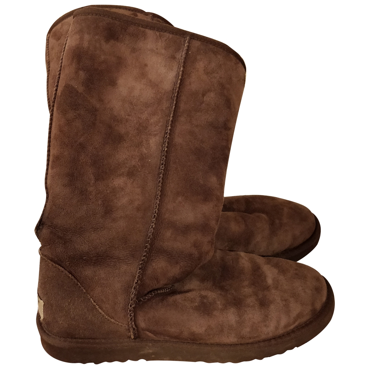 Ugg \N Brown Faux fur Boots for Women 40 EU