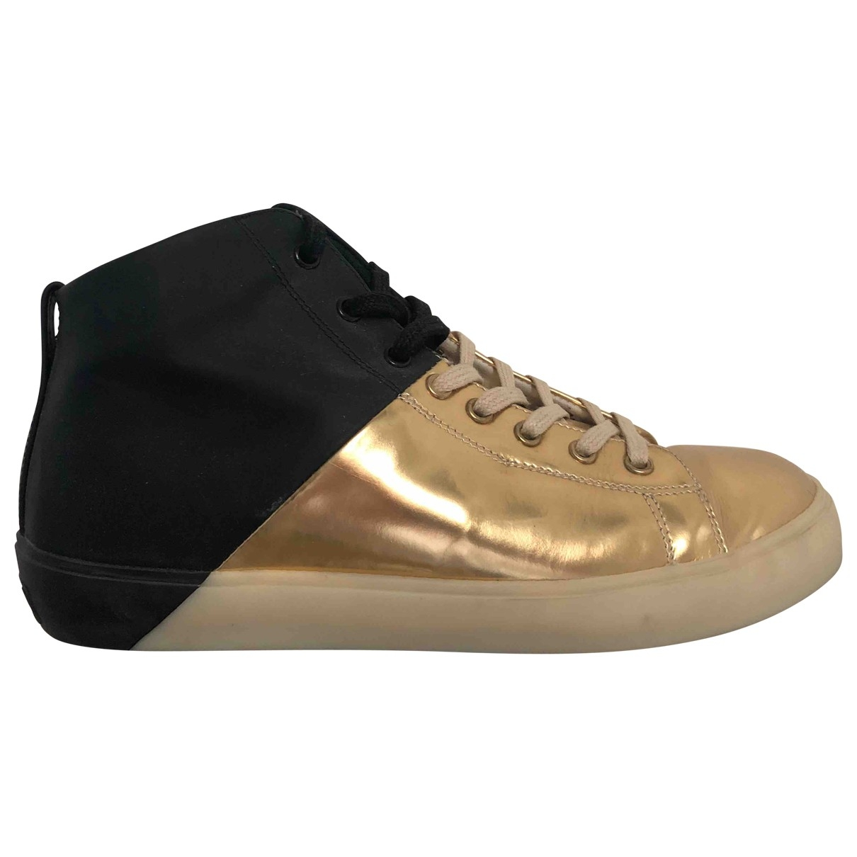 Leather Crown \N Black Leather Trainers for Women 39.5 EU