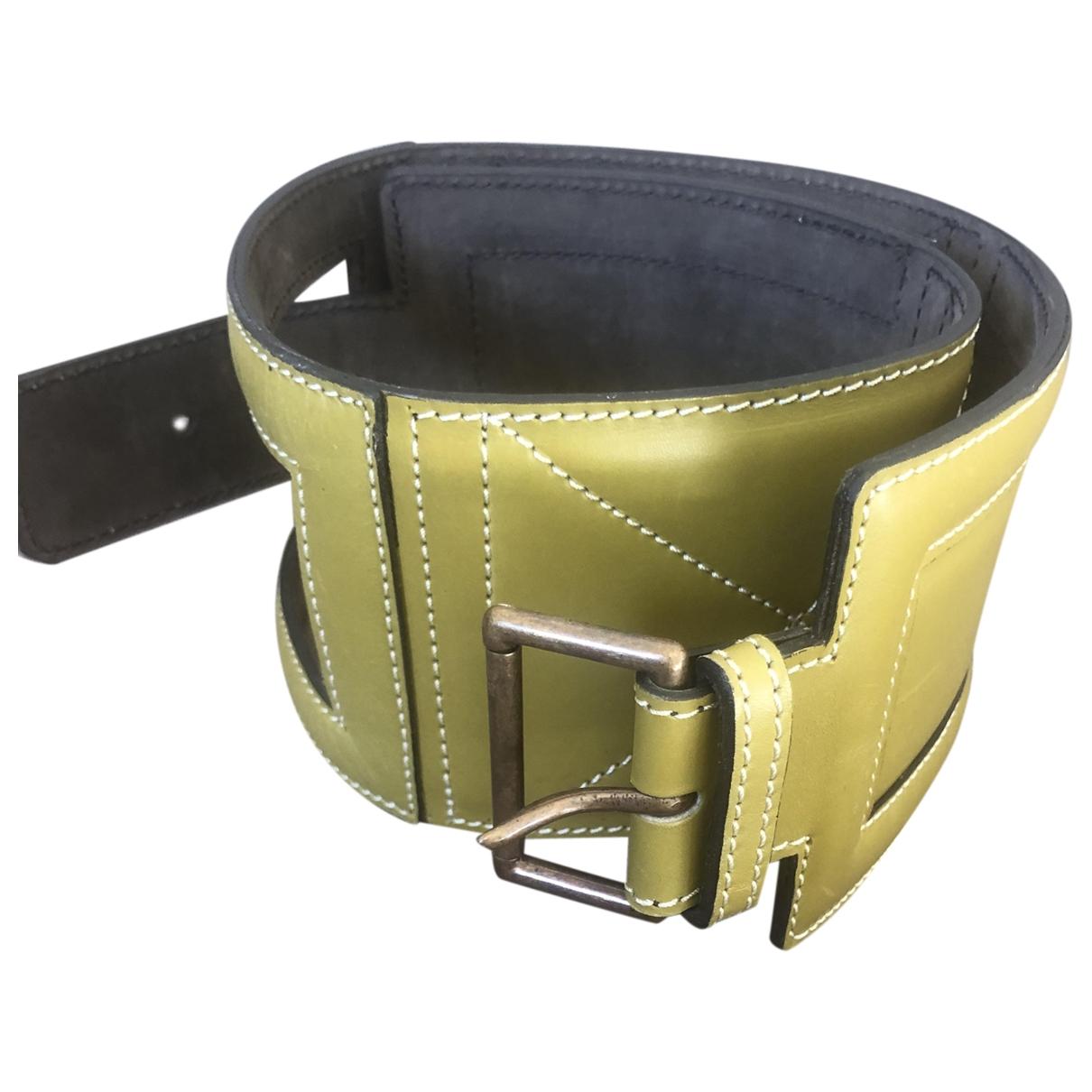 Alaïa \N Khaki Leather belt for Women 70 cm
