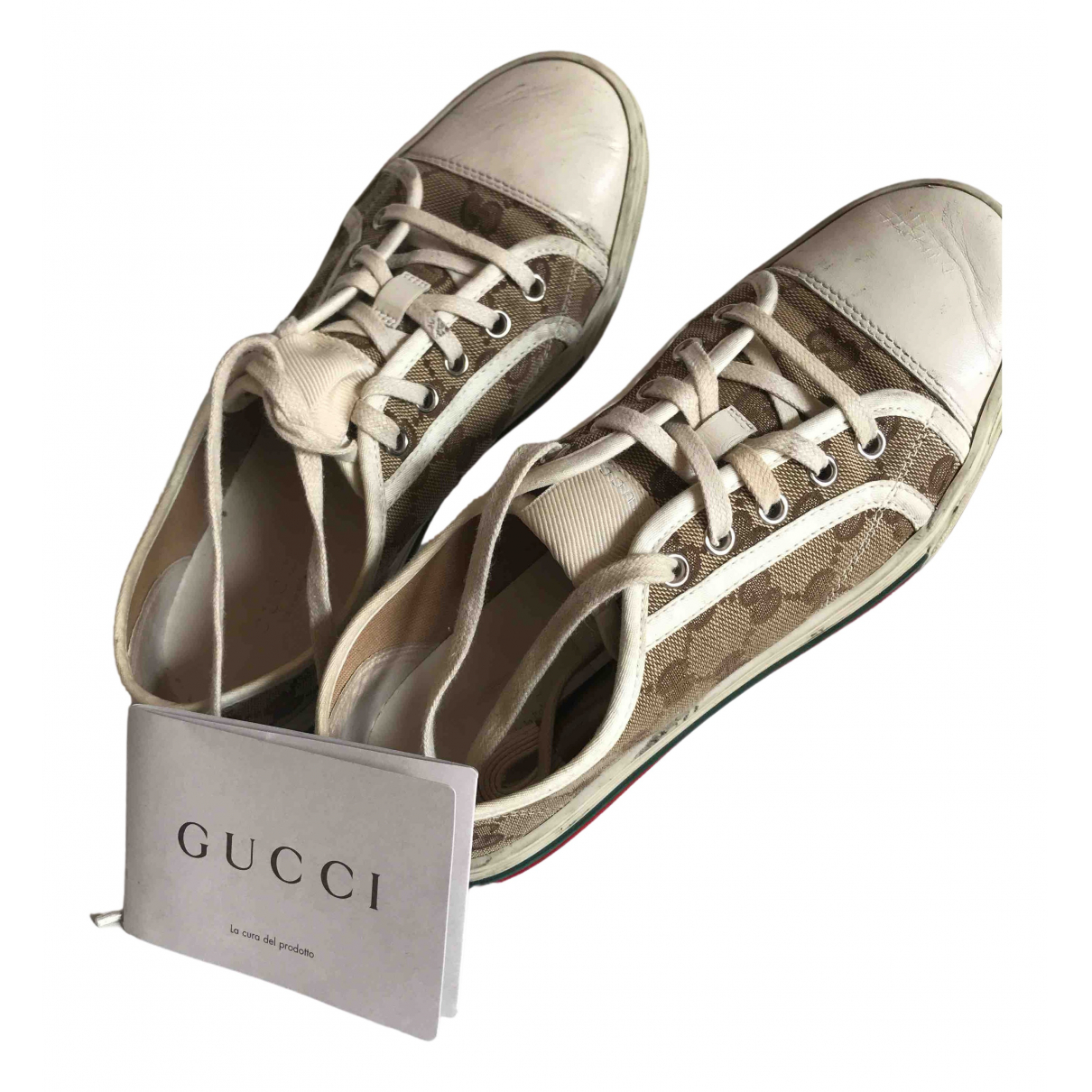 Gucci Ace Beige Leather Trainers for Women 36.5 EU