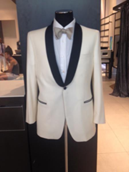 Mens Dress Formal Ivory ~ Cream ~ Off White Dinner Jacket