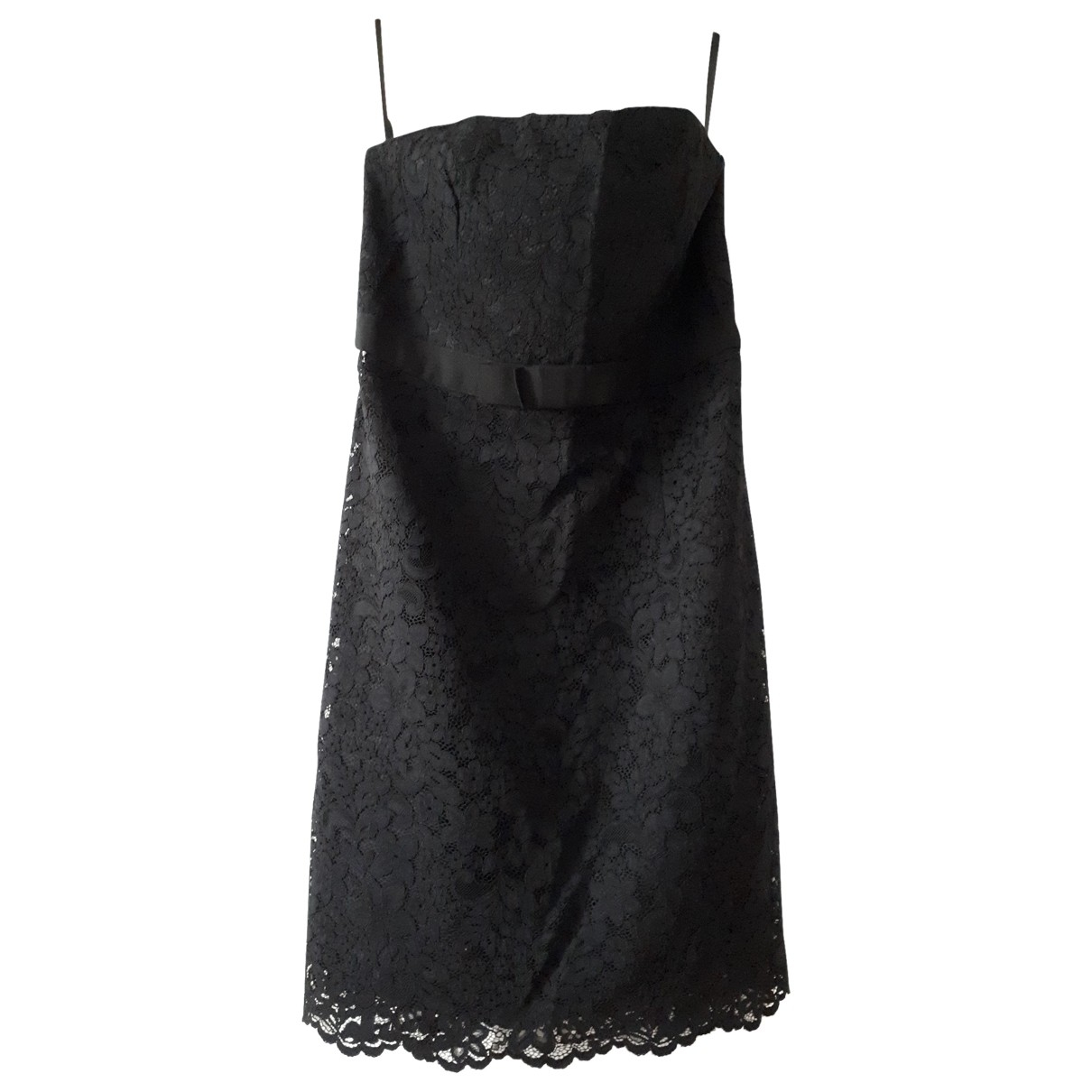 Non Signé / Unsigned \N Black Cotton dress for Women 44 FR