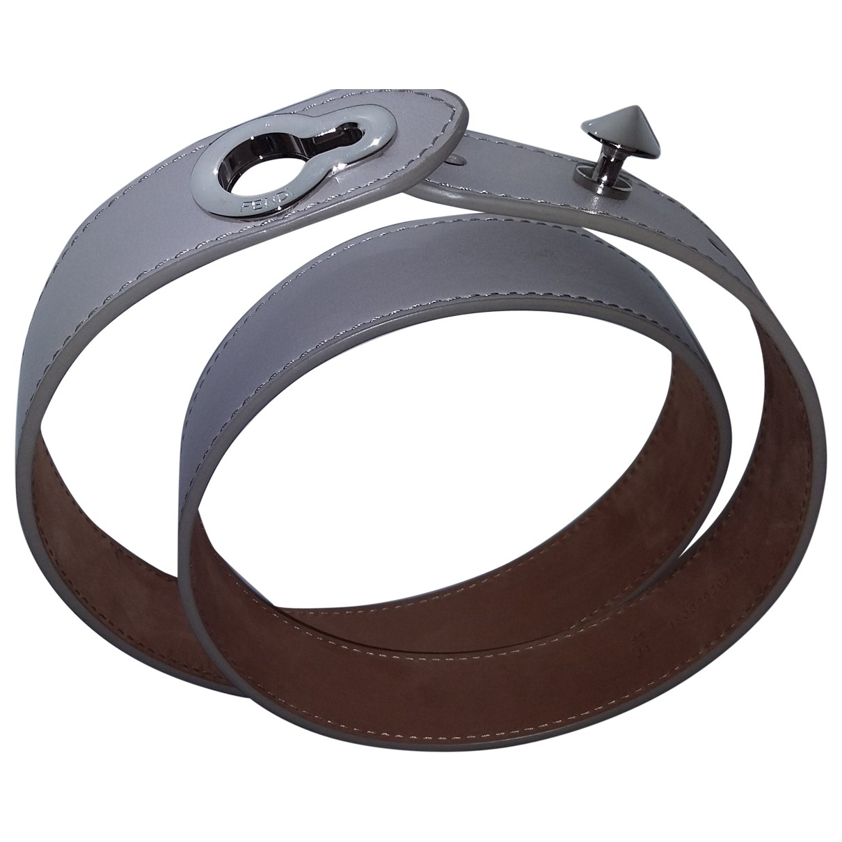 Fendi \N Beige Leather belt for Women 85 cm
