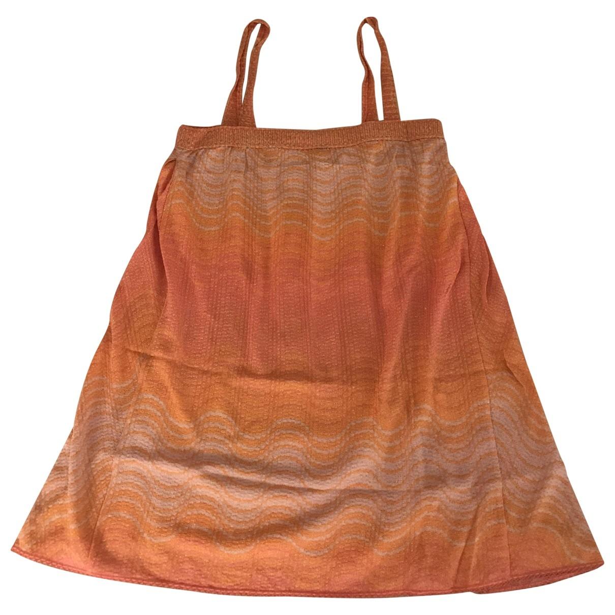 Missoni \N Kleid in  Orange Baumwolle - Elasthan
