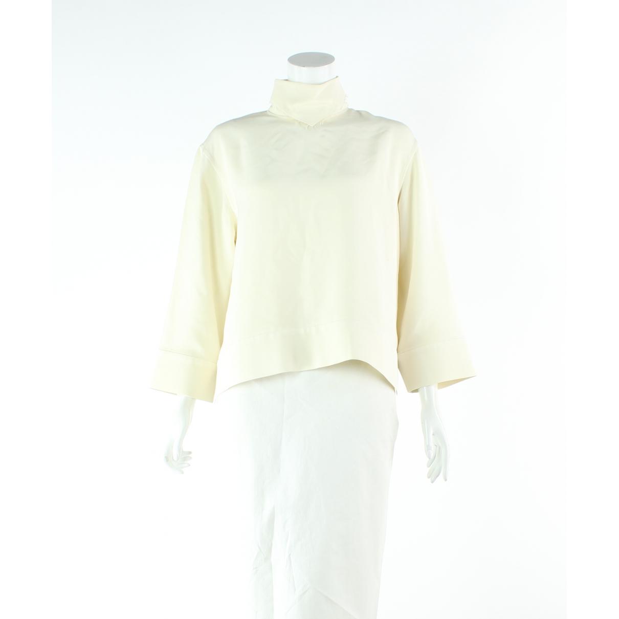Celine \N Ecru Silk  top for Women 40 FR