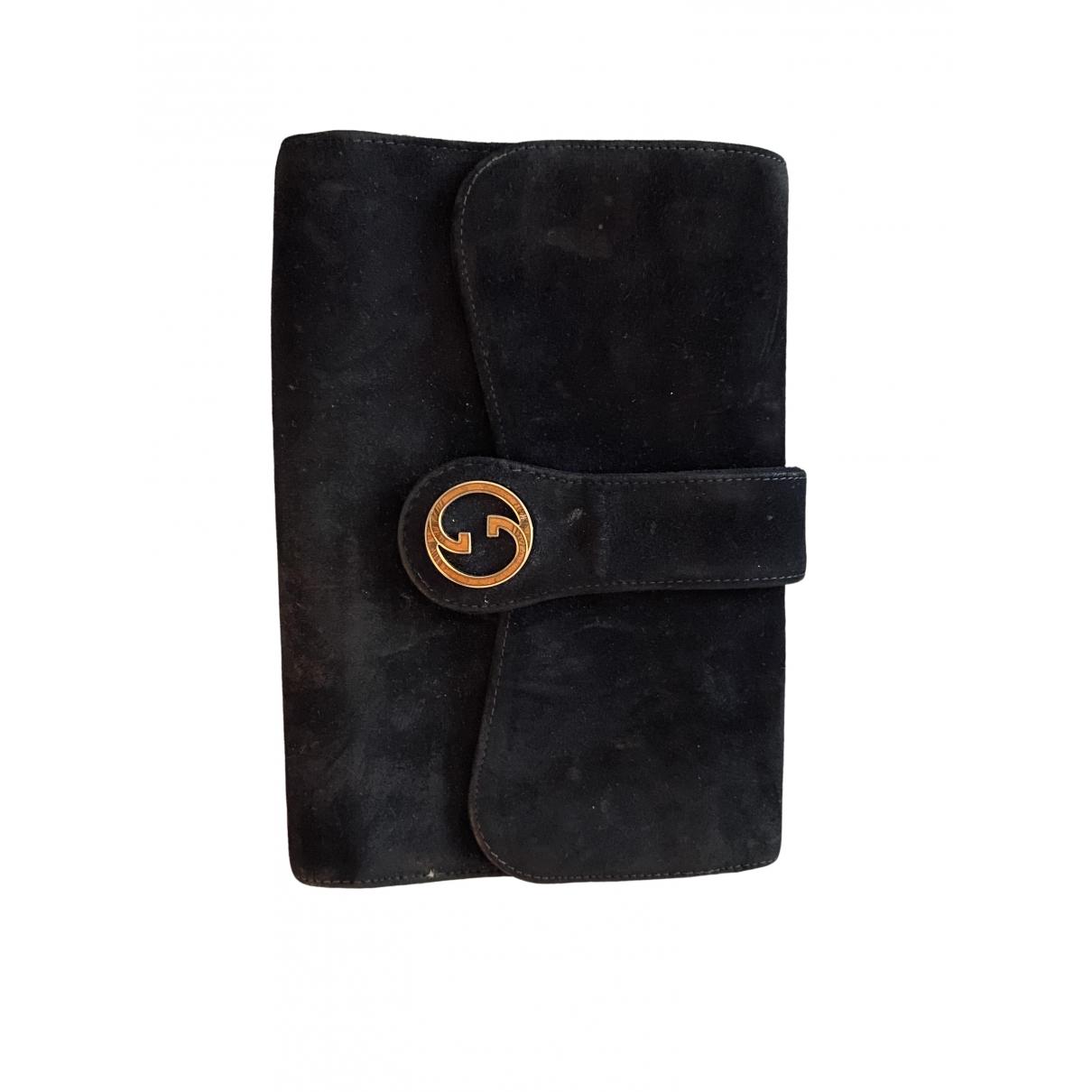 Bolsos clutch en Ante Negro Gucci