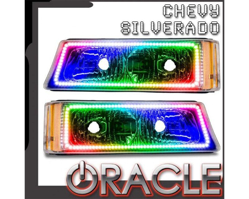Oracle Lighting 7205-334 Pre-Assembled Parking Light LED Halo Kit ColorSHIFT No Controller Chevrolet Silverado 2003-2006