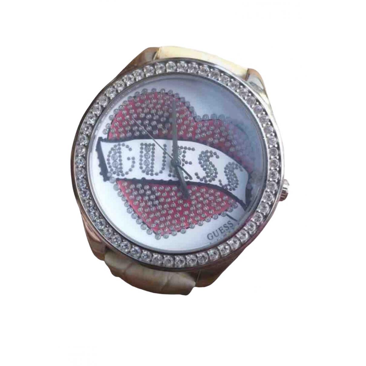 Guess \N Ecru Steel watch for Women \N