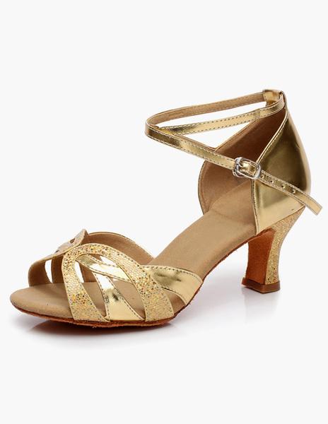 Milanoo Zapatos De Fiesta Brillantes Tiras Cruzadas 2020 Zapatos Baile Latino Recortados