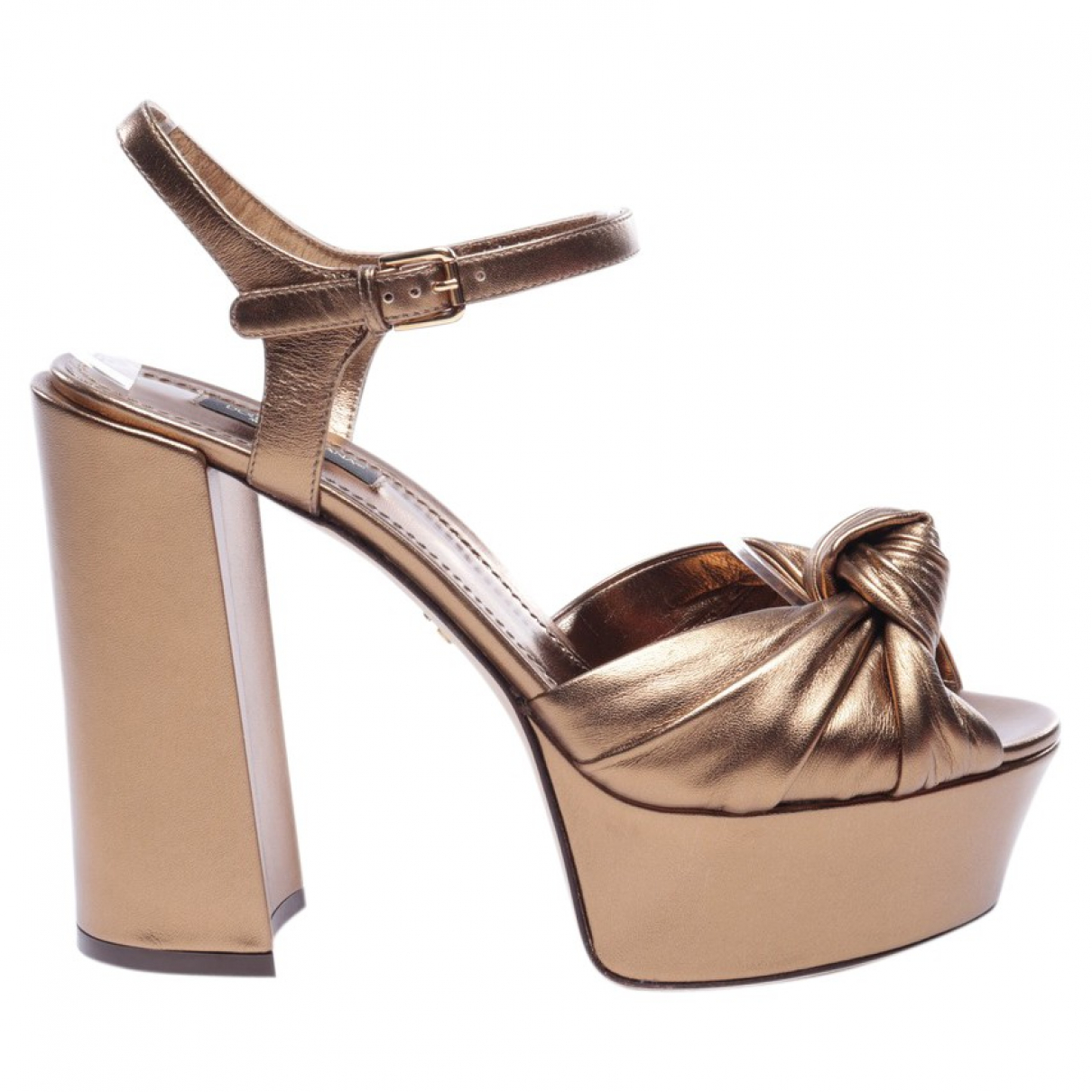 Dolce & Gabbana \N Sandalen in  Metallic Leder