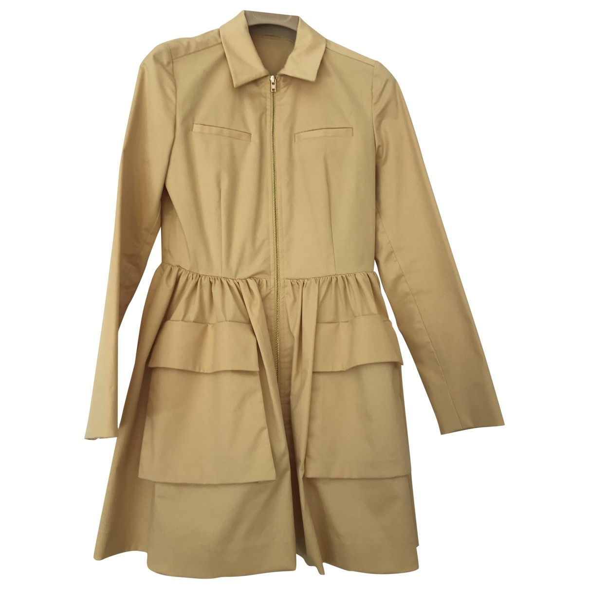 Miu Miu - Manteau   pour femme en coton - jaune