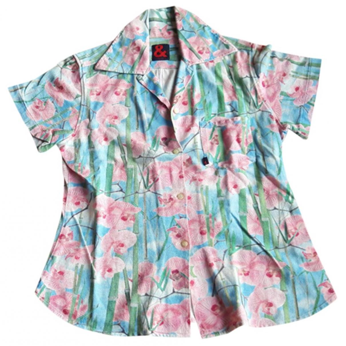 D&g - Top   pour femme en coton - multicolore
