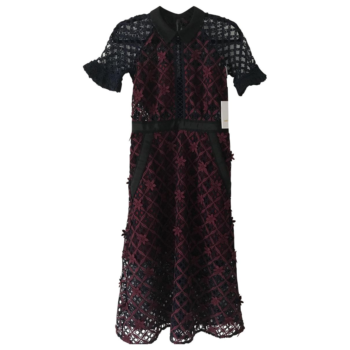 Self Portrait \N Burgundy Lace dress for Women 10 UK
