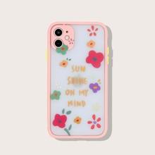 1pc Cartoon Flower Pattern iPhone Case