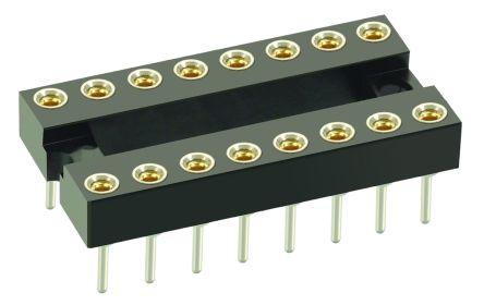 HARWIN , D2 2.54mm Pitch Vertical 8 Way, Through Hole Standard Pin Open Frame IC Dip Socket, 1A (5)