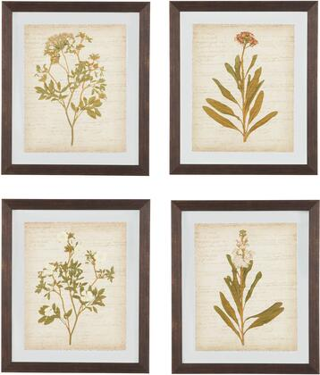Dyani A8000198 23 x 27 4 Piece Wall Art Set with Botanical Prints  Framed Prints and Saw tooth for Hanging in Multi