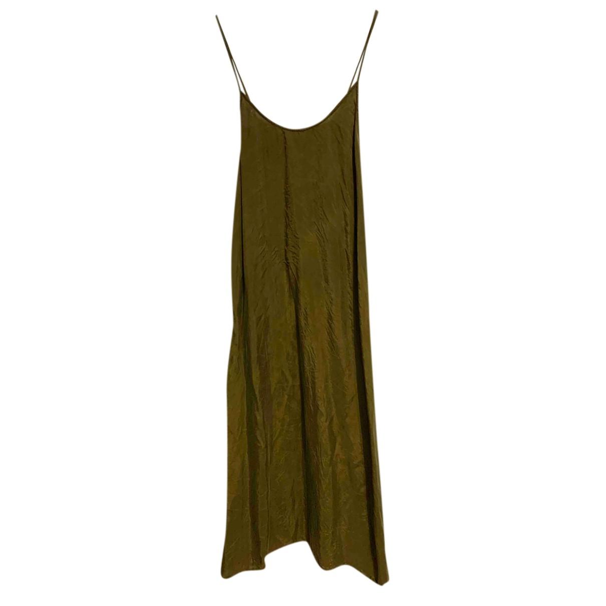American Vintage - Robe   pour femme en soie - kaki